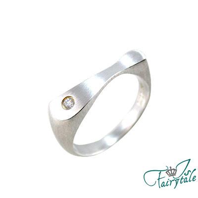 【伊飾童話】極簡風尚*流動純銀戒指