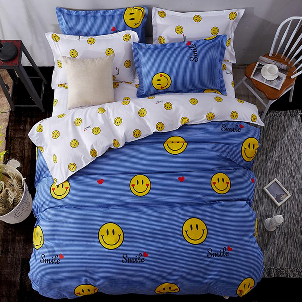 Alieen 個性印花 三件式涼被床包組 單人 微笑達人