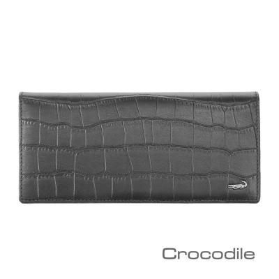 Crocodile-經典鱷魚壓紋長夾-0103-4001