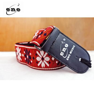 ENO ES-098 緹花編織背帶 紅底花紋