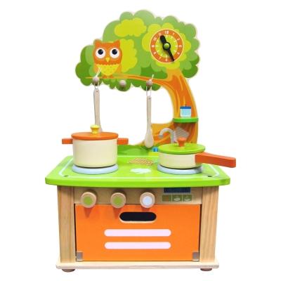 樂兒學嚴選 木製玩具魔法森林貓頭鷹廚具組
