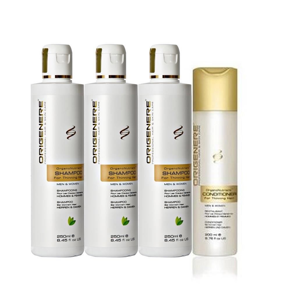 Origenere歐麗淨 SR鋸棕櫚養髮洗髮精250ml*3+滋養精華200ml