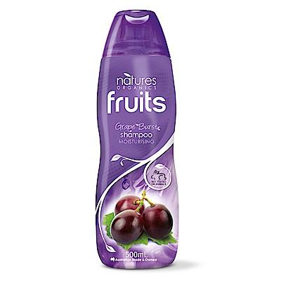 (即期品)澳洲Natures Organics 植粹滋潤保濕洗髮精(紫)500mlx5入