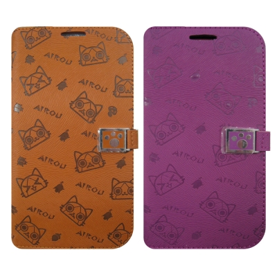 三星SAMSUNG NOTE3 日本AIROU艾路貓 直立式書本手機皮套