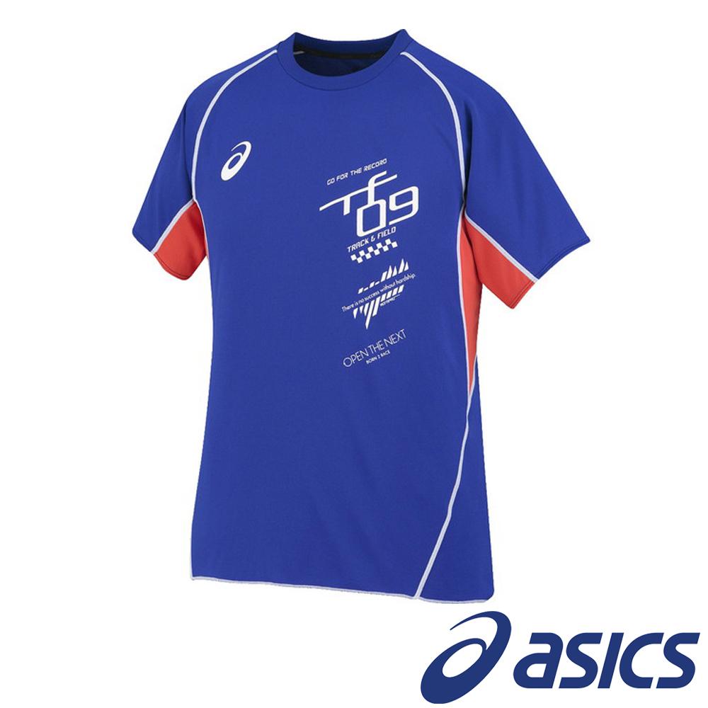 ASICS 亞瑟士 短袖剪接T恤 XT592N-45