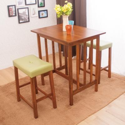 AS-貝里爾與愛麗斯吧檯桌椅組(一桌兩椅)-80x60x87cm
