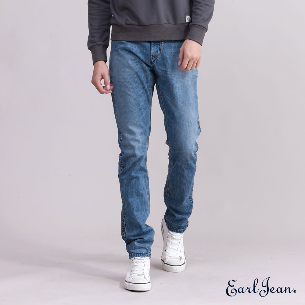 Earl Jean高腰舒適窄管單寧褲