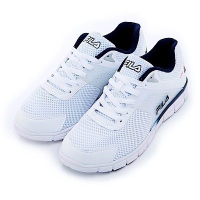 FILA 男慢跑鞋-白 1-J302S-131