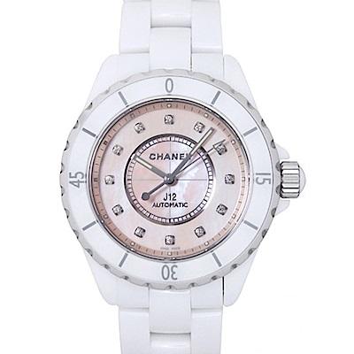 CHANEL 香奈兒 J12 H5514 限量版粉色珍珠貝母機械錶x38mm