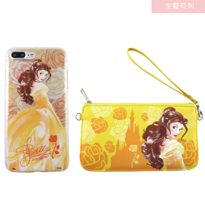 Disney迪士尼iPhone 7 Plus防摔氣墊空壓保護套+手機袋禮盒-手繪...