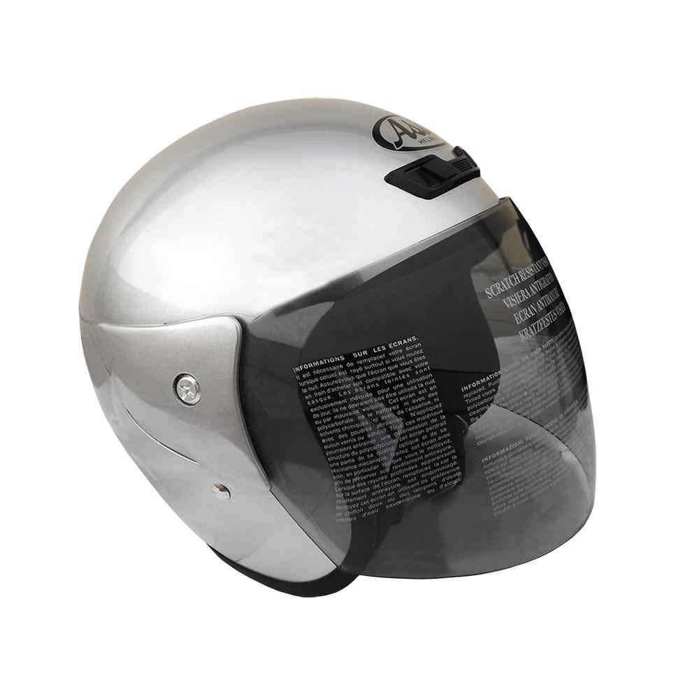 ASIA FreeStyle A-702 3/4罩式安全帽 銀色