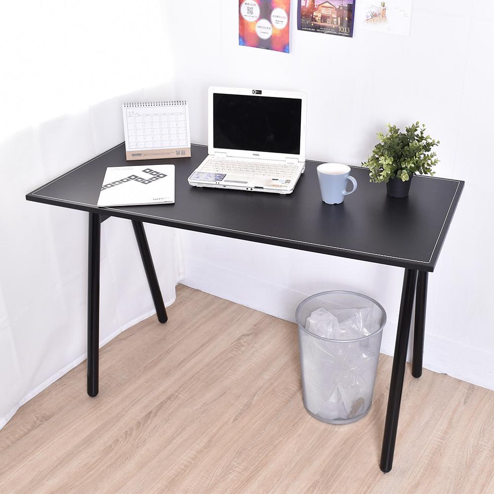 凱堡 馬鞍工作桌電腦桌(附電線孔蓋) 桌子書桌 120x60x75cm