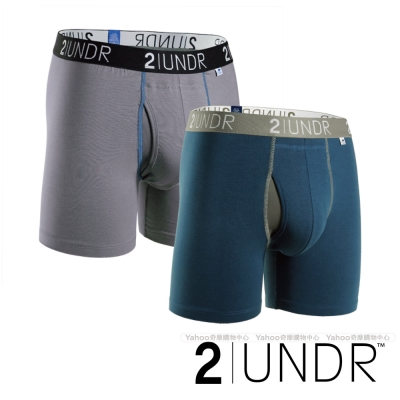 2UNDR Swing Shift 莫代爾吸排四角內褲(6吋)- 藏青、灰 二入組