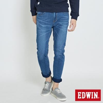 EDWIN 迦績褲JERSEYS復古棉感窄直筒褲-男-拔洗藍