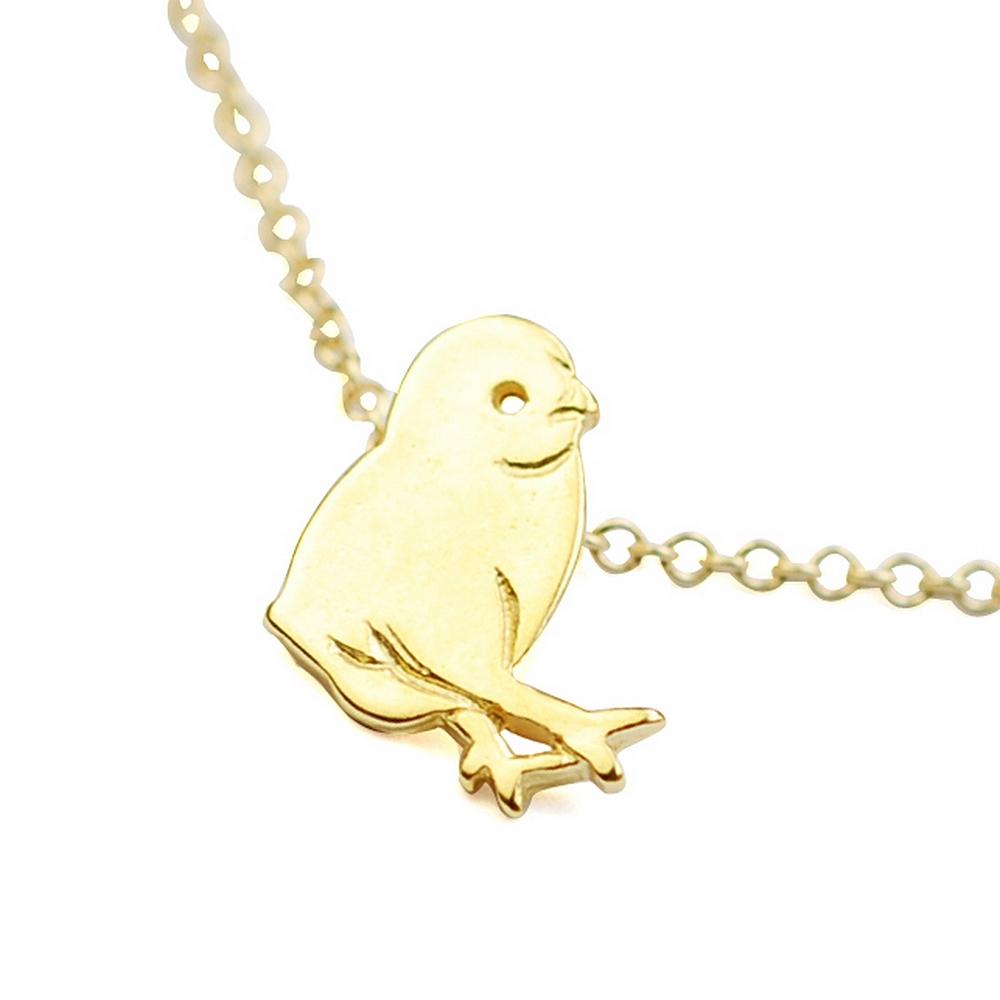 Dogeared 美國品牌Reminder金色項鍊-可愛小雞