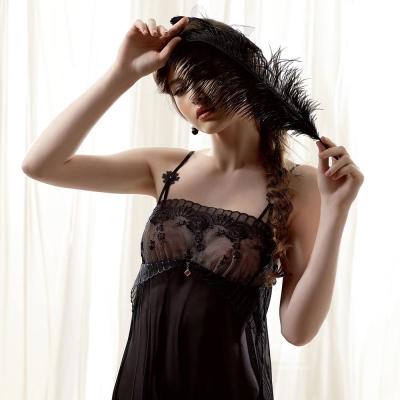 LADY 凡爾賽玫瑰系列 性感睡衣(透視黑)