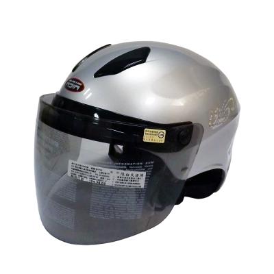 ASIA A-609 螺絲款式 摩登安全帽 銀