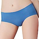 思薇爾 I LOVE U SO SOFT系列M-XL素面中低腰平口無痕內褲-星寶藍