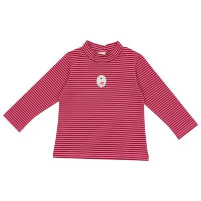 愛的世界 MYBABY 彈性立領橫條紋長袖上衣 1歲