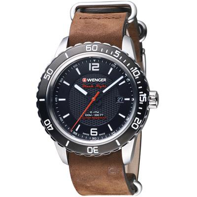 瑞士WENGER Roadster 黑夜騎士時尚腕錶(01.0851.121)黑/45mm
