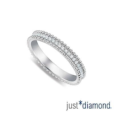鎮金店 Just Diamond 18K金 浪漫誓言男女對戒-女戒