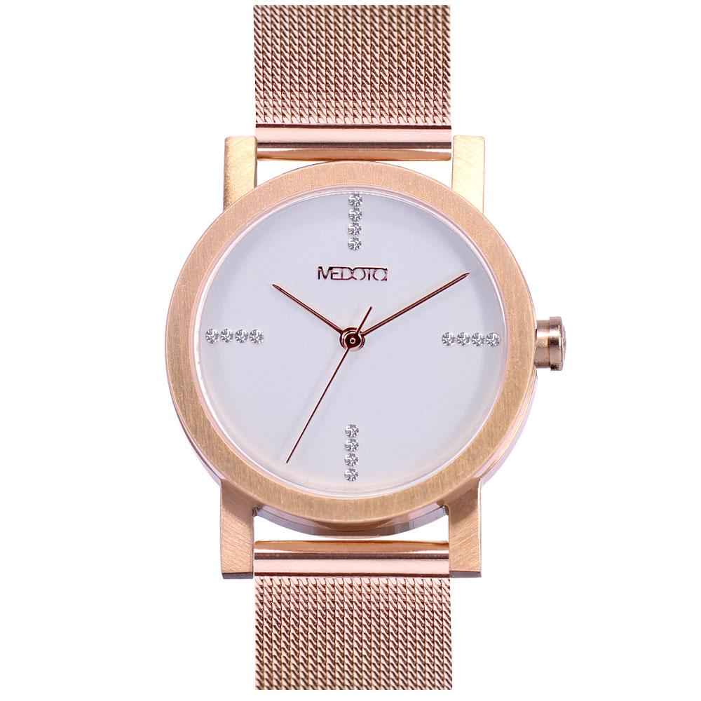 MEDOTA 極簡輕薄手錶- 奢華系列 – 女錶 玫瑰金色/30mm