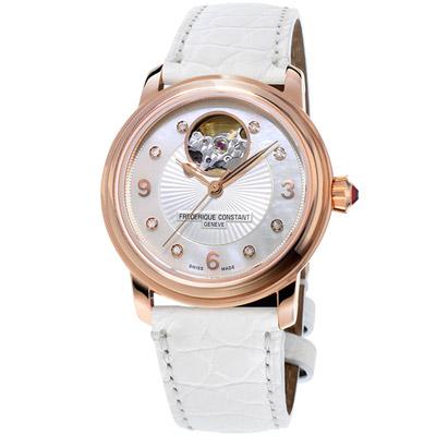 康斯登 CONSTANT HEART BEAT心跳系列女腕錶-白色/34mm
