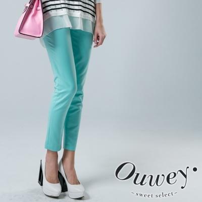 OUWEY歐薇-合身窄管褲