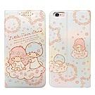 Kikilala雙子星 iPhone 6s / 6 Plus 粉嫩系列彩繪磁力皮套(花圈)