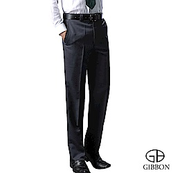 GIBBON 保暖細刷毛直紋平口西裝褲‧深藍31~42