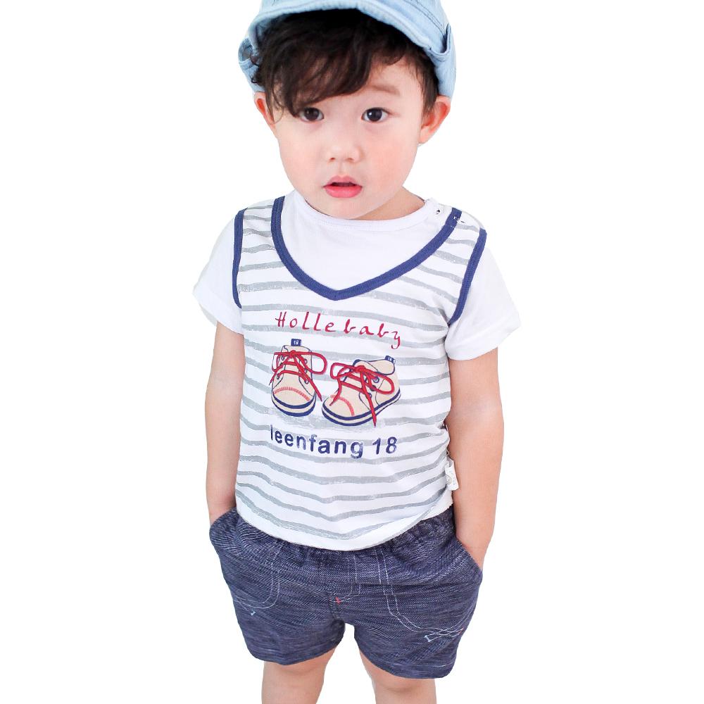 魔法Baby~百貨專櫃正品Bb鞋假兩件肩開套裝(A紅.B藍)~k28461