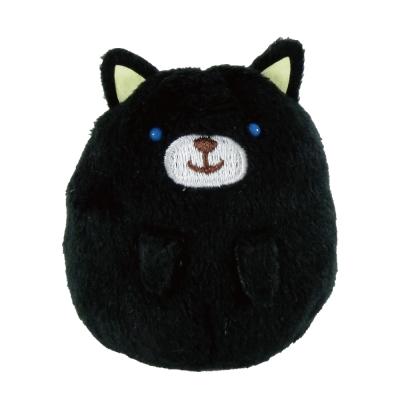 UNIQUE 動物樂園掌心沙包小公仔-小黑貓
