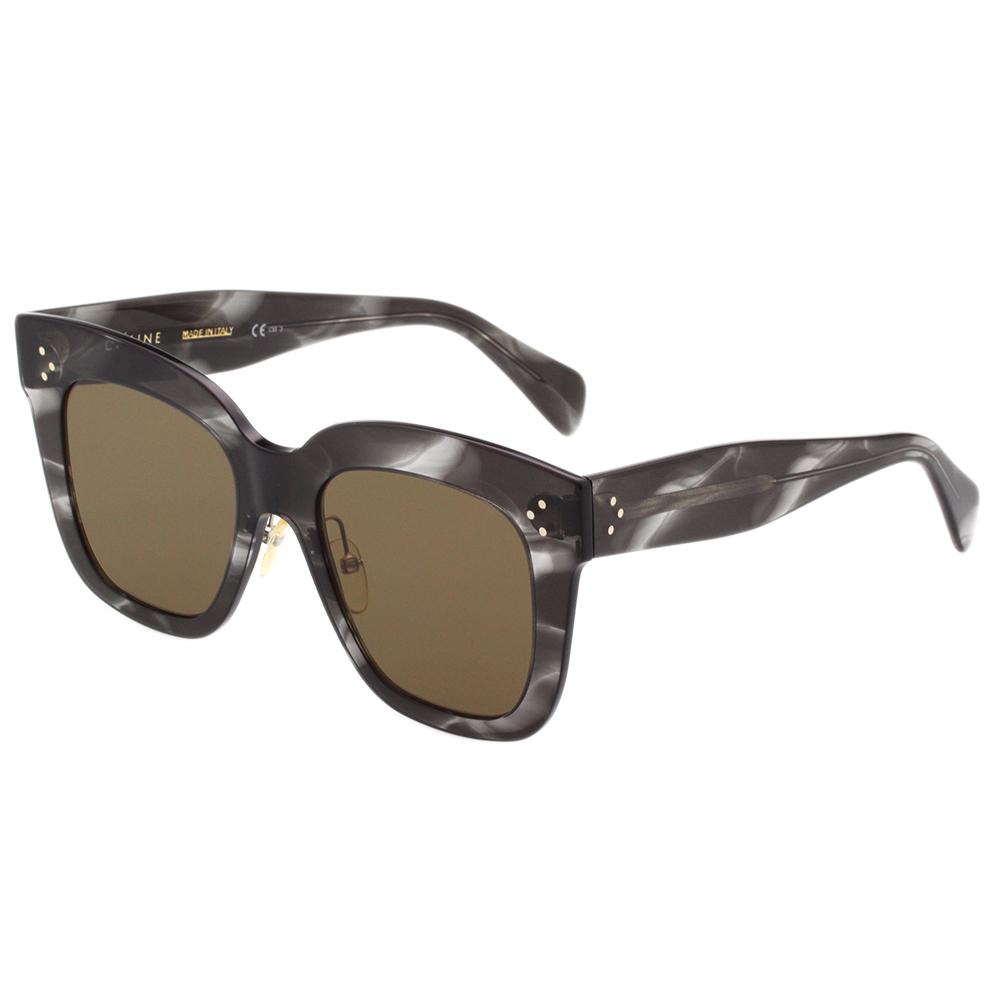 CELINE- 時尚方框 太陽眼鏡 (大理石紋)