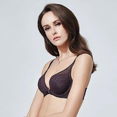 La Felino-夏日情懷3/4罩深V泡棉款B-E罩杯內衣 (葡萄紫)