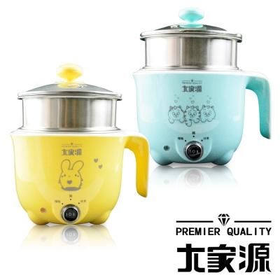 大家源-304不鏽鋼-1L-防燙美食鍋-蒸籠-二色可選-TCY-2727