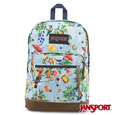 JanSport -RIGHT PACK EXPRESSIONS系列後背包 -鳥語花香