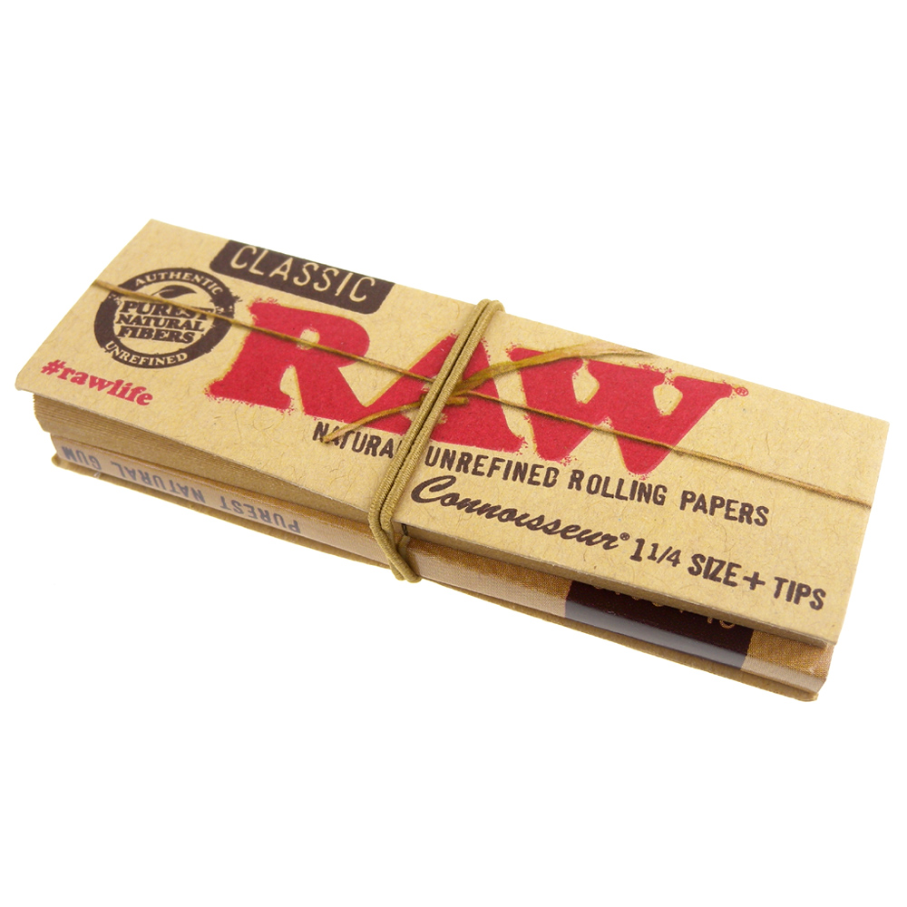 RAW CLASSIC CONNOISSEUR 1 1/4-捲煙紙+自捲式紙濾嘴*3包 product image 1