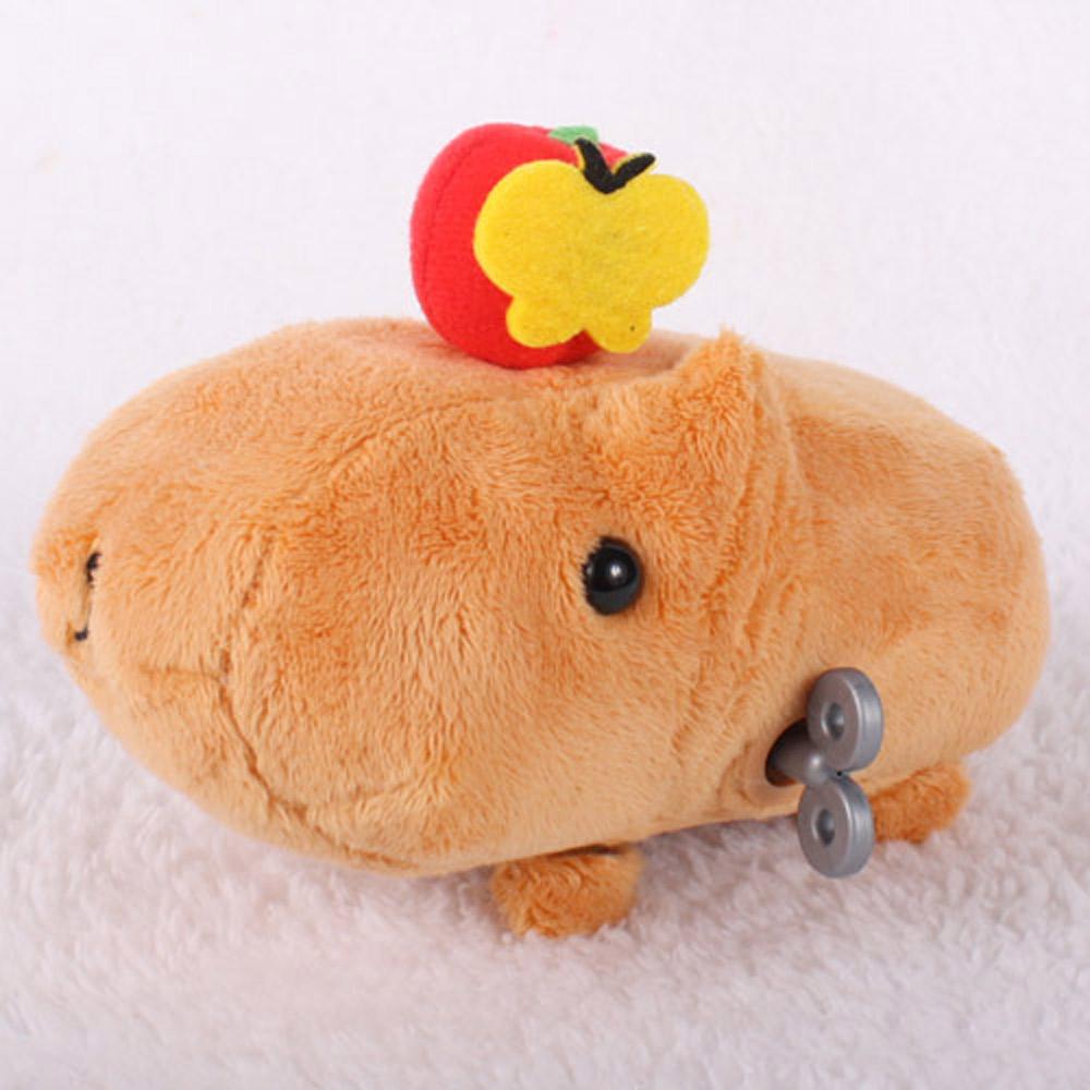 Kapibarasan 水豚君田園系列發條公仔(蘋果)