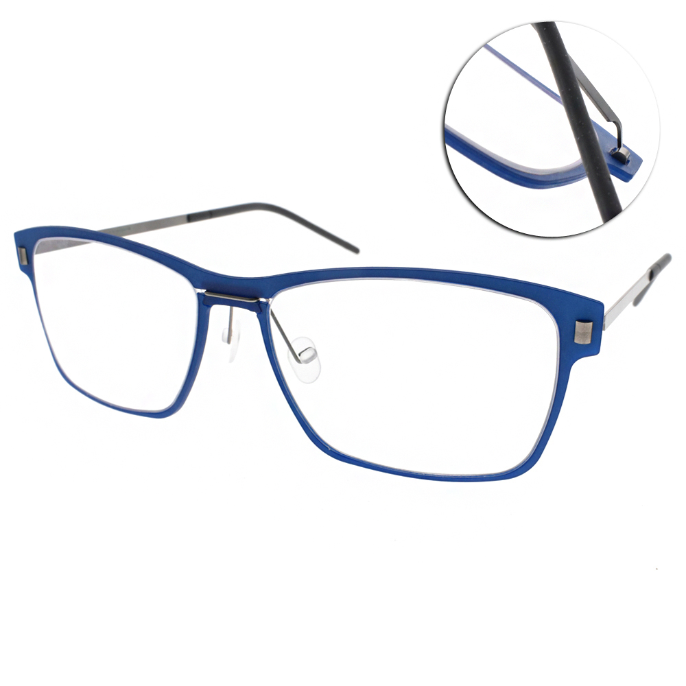 MARKUS T眼鏡 無螺絲眼鏡結構/藍-銀#M1 066 511-335