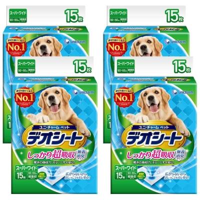 日本Unicharm消臭大師 超吸收狗尿墊 4L號 15片裝 x 4包