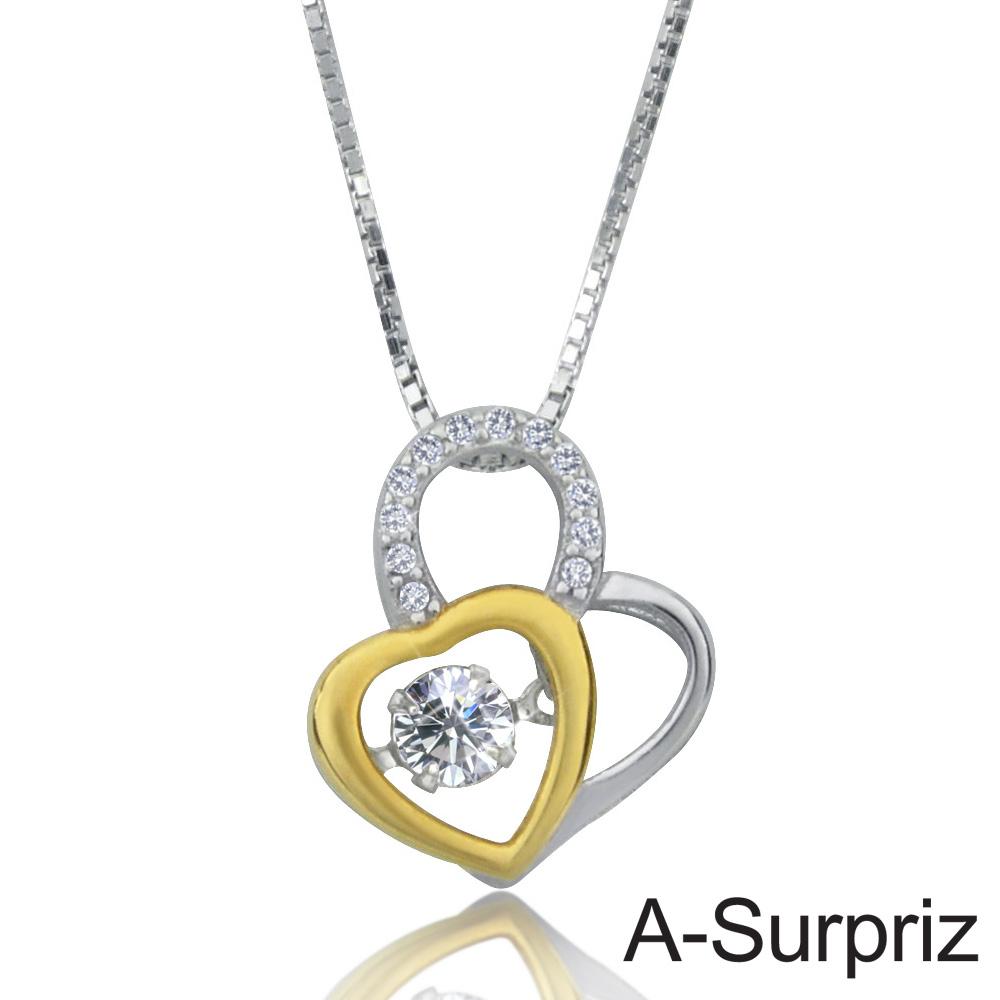 A-Surpriz 心跳之戀100%925銀八心八箭項鍊