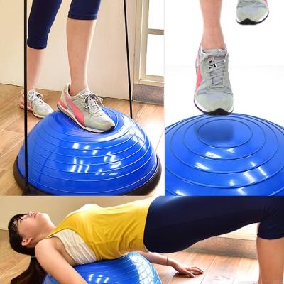 半圓平衡球有氧階梯踏板+彈力繩
