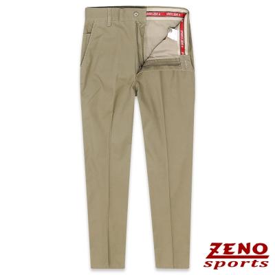 ZENO 彈力舒適經典無摺休閒褲‧卡其31-42