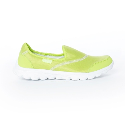【TOP GRIL】簡約健走無鞋帶懶人休閒鞋-螢光綠