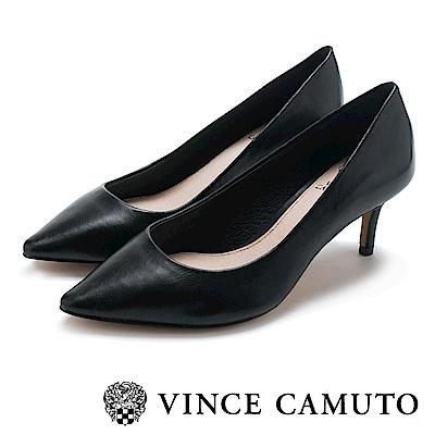 Vince Camuto 首選小羊皮素面高跟鞋-黑色