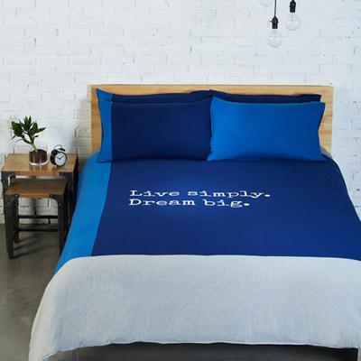 Yvonne Collection簡單生活加大四件組-寶藍