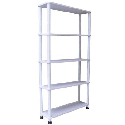 MIT-80公分-寬-五層置物架-素雅白色