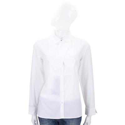 Max Mara-WEEKEND 白色領帶設計長袖襯衫