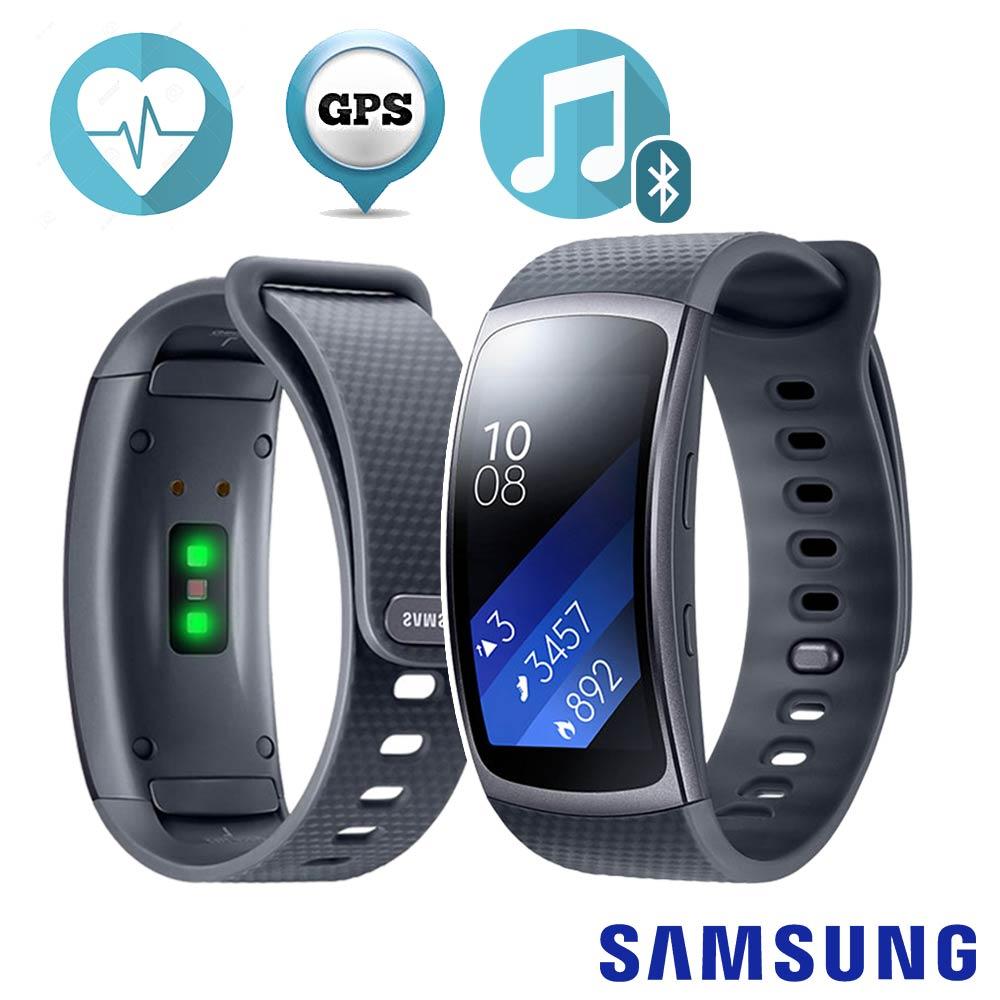 Samsung Gear Fit2 心率音樂 智慧手環 (灰 / 藍 / 粉 三色可選) product image 1