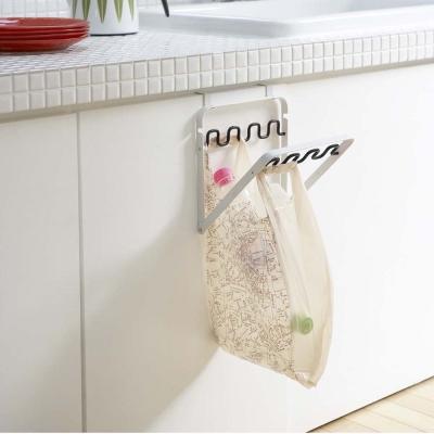 ~YAMAZAKI~Nature門板收納袋掛架~黑~垃圾分類 塑膠袋分類 廚房收納
